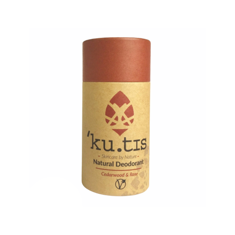 Natural Vegan Deodorant - Cedarwood & Rose - Kutis