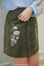 Load image into Gallery viewer, Heather Floral Skirt in Green