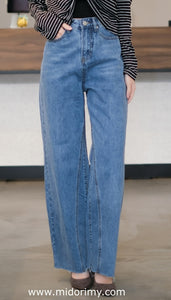 Broad Leg Jeans in Blue
