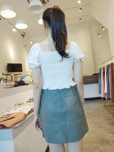 Load image into Gallery viewer, Leather Skort in Grey