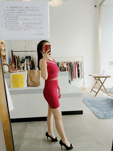 Skinny Bodycon Dress in Red