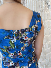 Load image into Gallery viewer, Paris Girl Hollow Design Dress in Blue