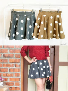 Polka Dots Skirt in Brown