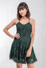 Load image into Gallery viewer, Spaghetti Lace Dress in Green