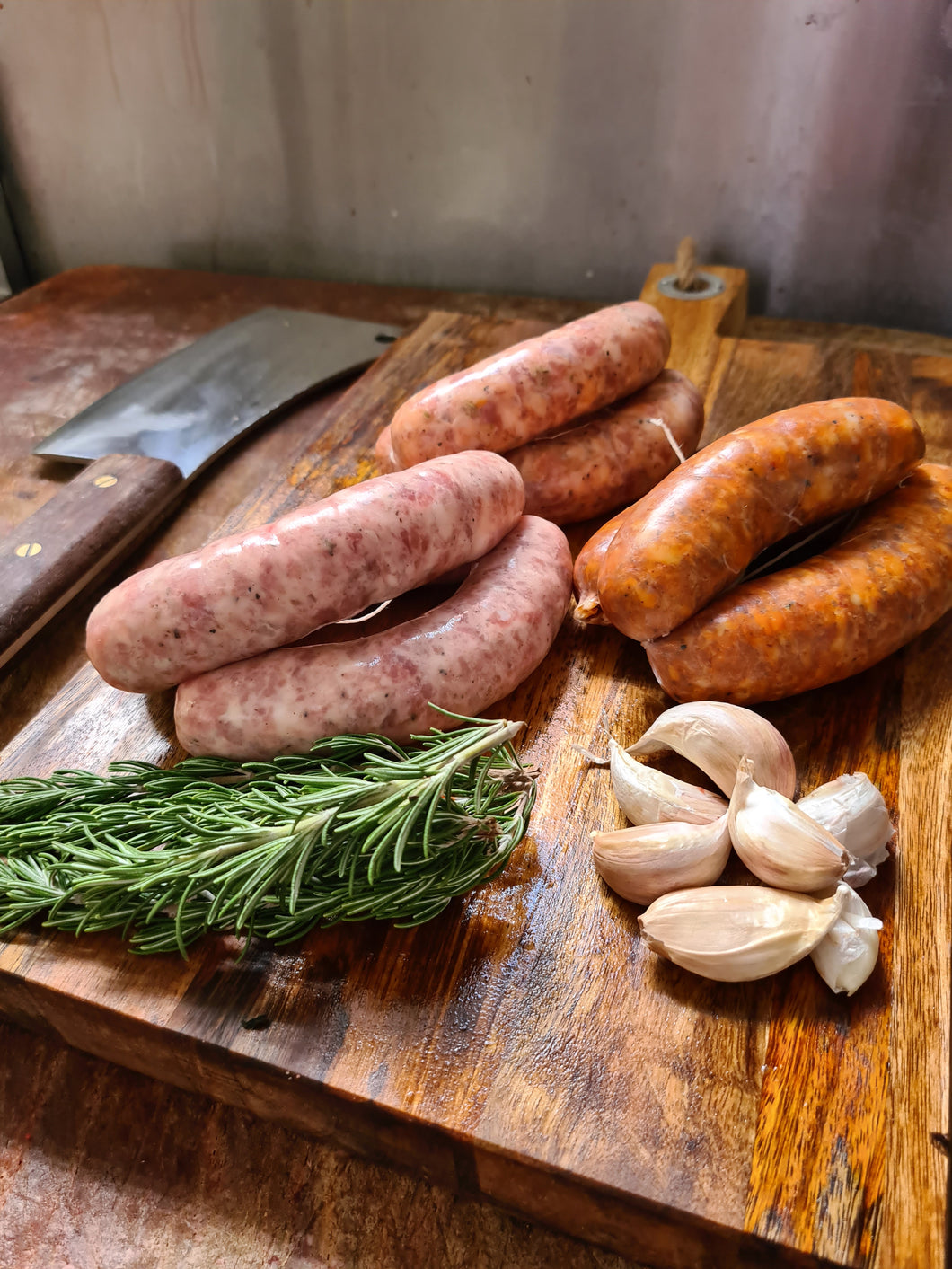 Homemade Continential Pork & Fennel Sausages