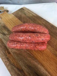 Homemade Redwine & Herb Sausages G/F