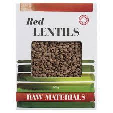 Raw Materials Red Lentils 500g