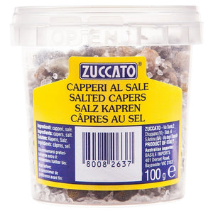Zuccato Salted Capers 100g