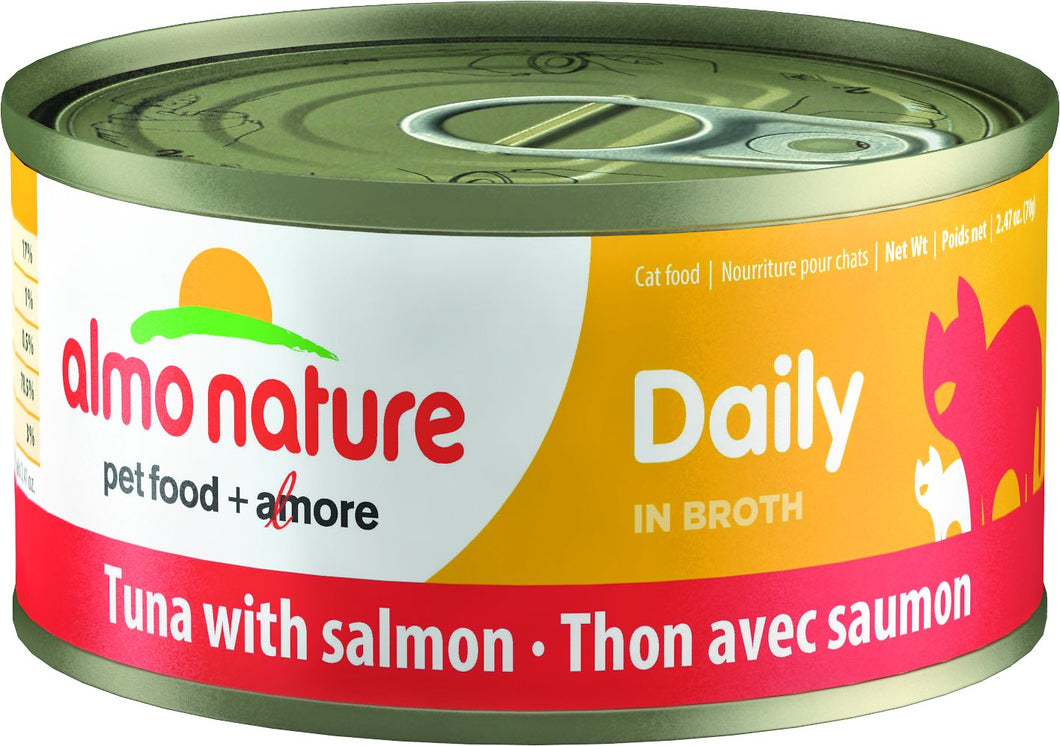 Almo Nature Daily Tuna with Salmon for Cats 2.47oz