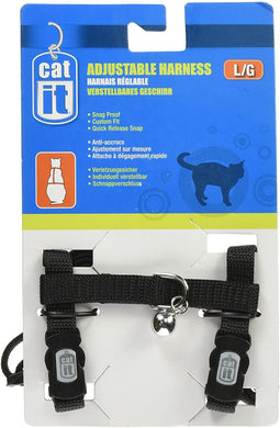 Catit Harness & Leash Black Large