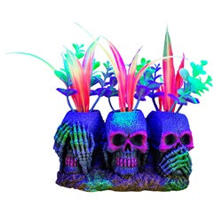 Marina iGlo Ornament - 3 Skulls with Plants - Small - 14 cm