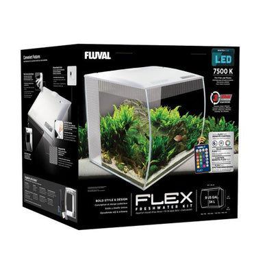 Fluval Flex 9 Gallon - White