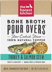 Bone Broth Pour Overs Turkey/Salmon for Dogs 5.5oz