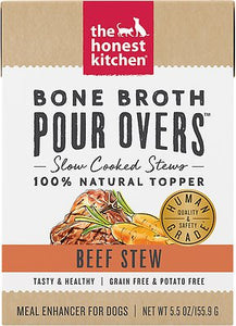 The Honest Kitchen Bone Broth Pour Overs Beef Stew for Dogs 5.5oz