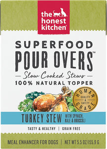 The Honest Kitchen Superfood Pour Overs Turkey Stew for Dogs 5.5oz