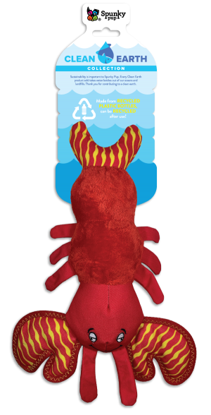 Spunky Pup Clean Earth Plush Lobster Large