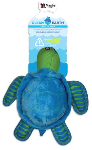 Spunky Pup Clean Earth Plush Turtle Large