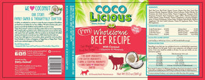 13oz Party Animal Cocolicious Wholesome Beef - Canine
