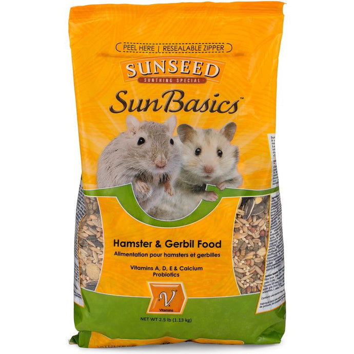Sunseed SunBasics Hamster/Gerbil 2.5lb