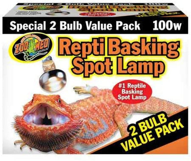 Zoo Med basking Spot 100 watt 2 pack