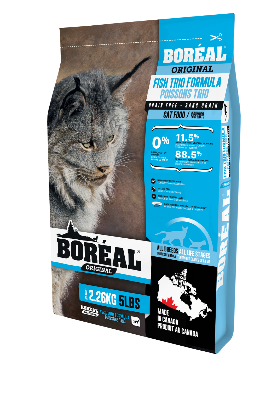 Boréal Fish Trio for Cats 2.26kg