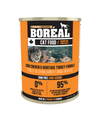 Boréal Cobb Chicken & Heritage Turkey Formula for Cats 369g