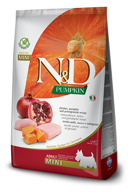 Farmina N&D Pumpkin Chicken & Pomegranete Adult Dog Mini 5.5lb