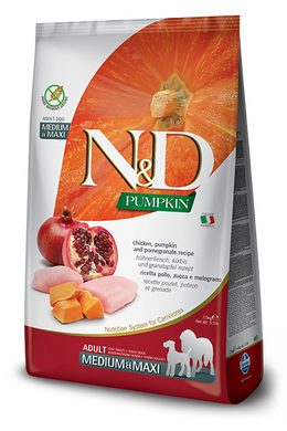 Farmina N&D Pumpkin Chicken & Pomegranete Adult Dog Med/Maxi 26.4lb