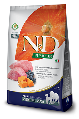 Farmina N&D Pumpkin Lamb & Blueberry Adult Dog Med/Maxi 26.4lb