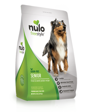 Nulo Freestyle High-Meat Kibble for Seniors Trout & Sweet Potato Recipe