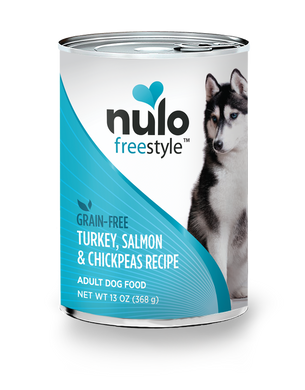 Nulo Freestyle Turkey, Salmon & Chickpeas Recipe for Dogs 13oz Can