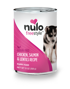 Nulo Freestyle Chicken, Salmon & Lentils Recipe for Puppies 13oz Can
