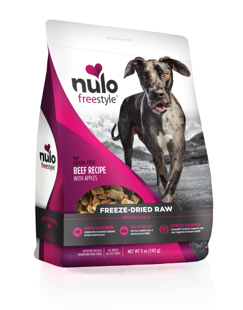 Nulo Freestyle Freeze-Dried Raw Beef with Apples for Dogs 5oz