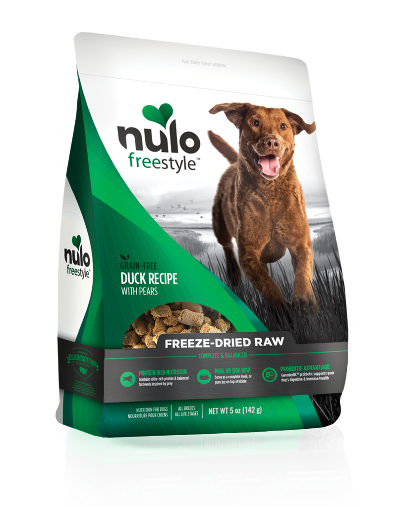 Nulo Freestyle Freeze-Dried Raw Duck with Pears for Dogs 13oz