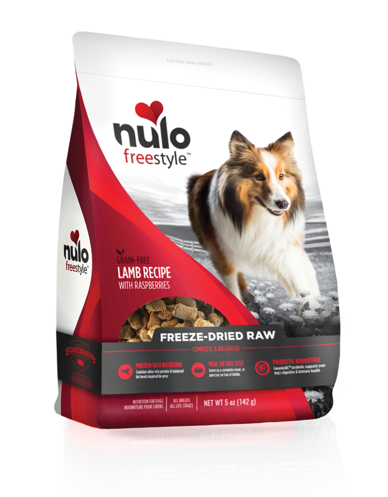 Nulo Freestyle Freeze-Dried Raw Lamb with Raspberries for Dogs 5oz