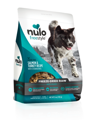 Nulo Freestyle Freeze-Dried Raw Salmon & Turkey with Starwberries for Dogs 13oz