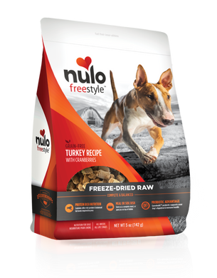 Nulo Freestyle Freeze-Dried Raw Turkey with Cranberries for Dogs 13oz