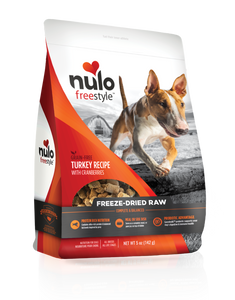 Nulo Freestyle Freeze-Dried Raw Turkey with Cranberries for Dogs 5oz
