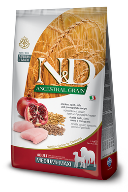 Farmina N&D Ancestral Grain Chicken & Pomegranate for Dogs Med/Maxi 5.5lb
