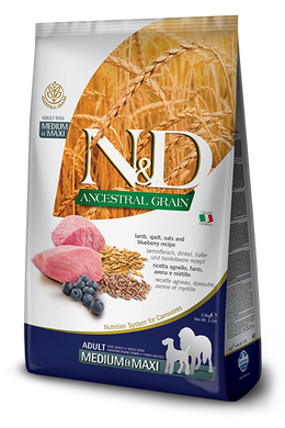 Farmina N&D Ancestral Grain Lamb & Blueberry for Dogs Med/Maxi 5.5lb