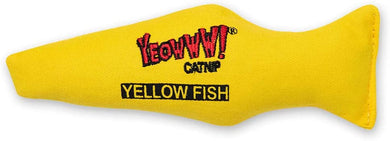YEOWWW Yellow Fish Catnip Toy