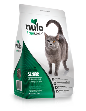 Nulo Freestyle Senior Cat Alaska Pollock, Duck & Sweet Potato Recipe
