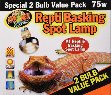 Zoo Med Basking Spot 75 watt 2 pack