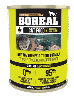 Boréal Heritage Turkey & Trout for Cats 369g