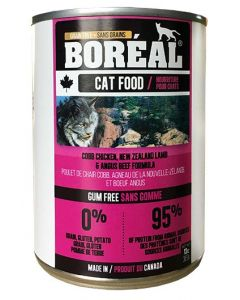 Boréal Cobb Chicken New Zealand Lamb and Angus Beef for Cats 369g