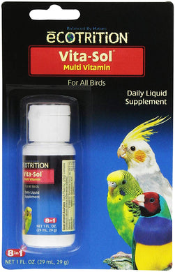eCOTRITION Vita-Sol Multi-Vitamin for Birds, 1-Ounce