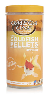 Omega One Sinking Goldfish Pellets (LG, 6mm) 7.5 oz