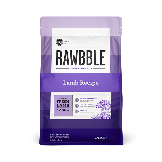 Rawbble Lamb for Dogs 4lb