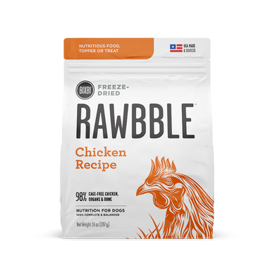 5.5oz Rawbble FD Chicken for Dogs