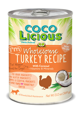 13oz Party Animal Cocolicious Wholesome Turkey - Canine